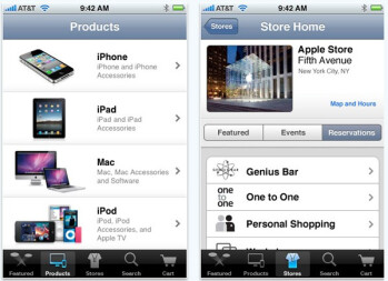 Apple Store app chimes in on cue and heads right into the App Store