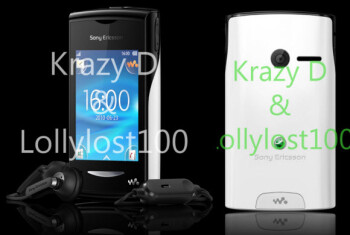 Promotional pictures show off Sony Ericsson's Walkman branded Android phone