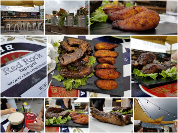 Making a collage helps to showcase an overall dining 'experience.
