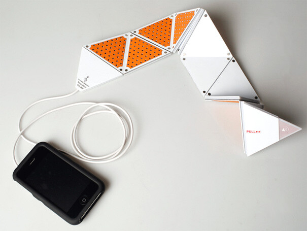 Yanko designed speaker concept increases or decreases with a fold