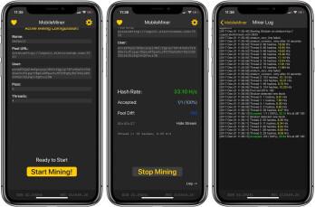Mining Bitcoin oder andere Krypto auf einem iPhone bringt Sie nirgends
