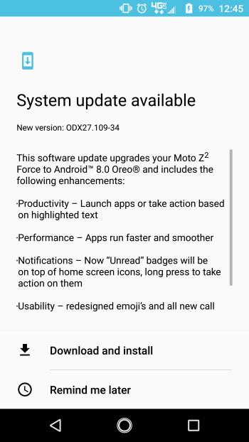 Verizon rolling out Android Oreo official update for the Moto Z2 Force