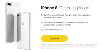 iphone buy one get one free verizon sprint offers iphone 8 bogo deal and 300 on iphone x 20489