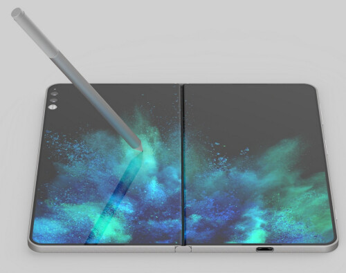 Microsoft applies for a patent on free-stop 360 degree hinges for its folding Andromeda device