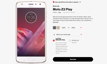 Deal: Moto Z2 Play on sale for $240 ($168 off) at Verizon (requires payment plan)