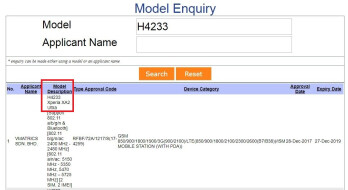 SIRIM's model enquiry page shows that the H4233 model is the XA2 Ultra