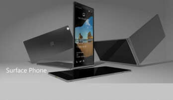 A render of an imagined Surface Phone