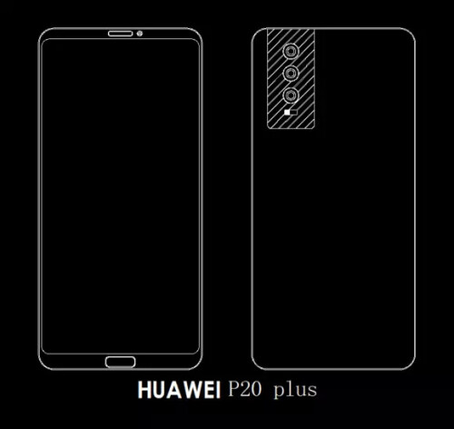 AllegedHuawei P20, P20 Plus and P20 Pro designs