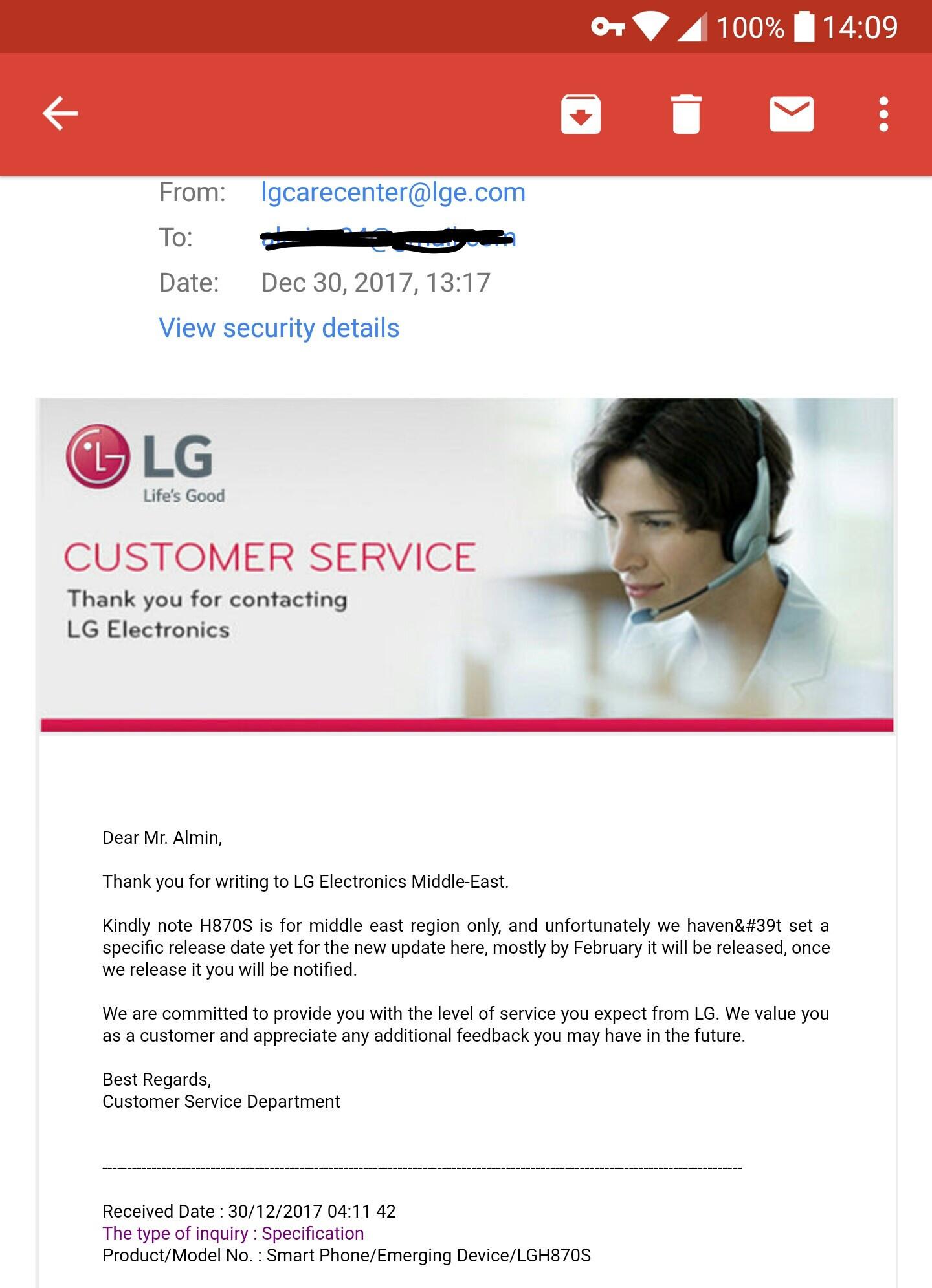 Lg G6 Update Oreo