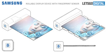 Samsung patents a rollable display with fingerprint sensor