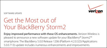 OS 5.0.0.713 for Verizon's BlackBerry Storm2 9550 is now up for grabs