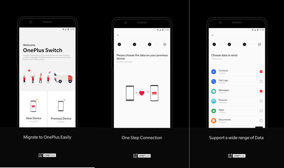 New OnePlus Switch app allows users to migrate data to a new OnePlus smartphone