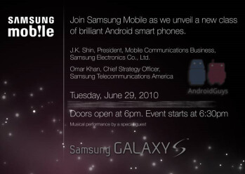 "Samsung will unveil a ""new class"" of Android handsets at their New York City event"