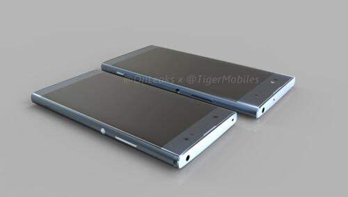 Xperia XA2 and XA2 Ultra CAD-based renders