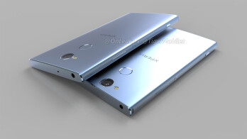 CAD-based renders of the Xperia XA2 and XA2 Ultra reiterate fingerprint on back