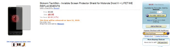 Amazon offers first accessory for the Motorola DROID X