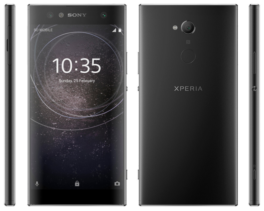 sony xperia xa2 xa2 ultra and l2 press renders leak out. Black Bedroom Furniture Sets. Home Design Ideas