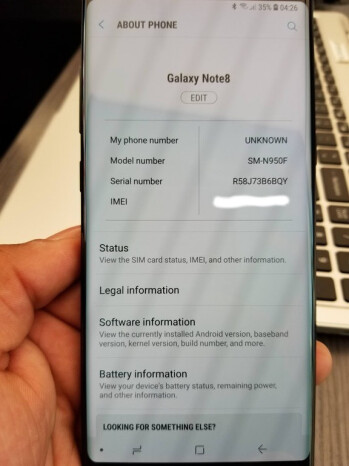 Some Samsung Galaxy Note 8 units receive Android 8.0 Oreo official update