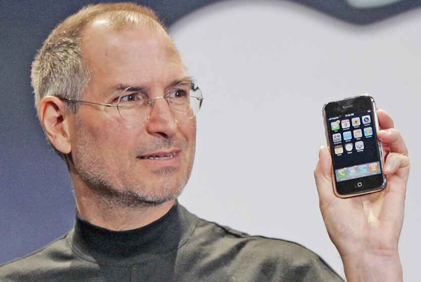 A moment frozen in time; Steve Jobs introduces the iPhone in 2007 - WSJ: Apple product delays double in length with Tim Cook as CEO