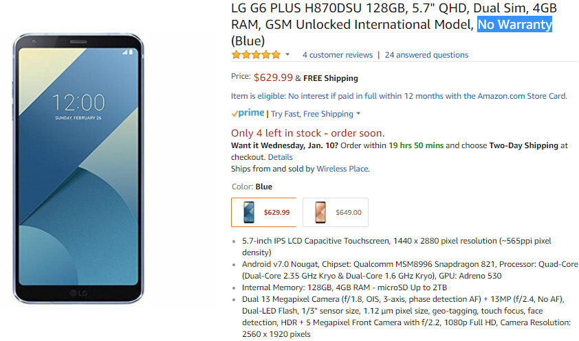 Unlocked LG G6+ drops to $630 in the US, but there's a major downside