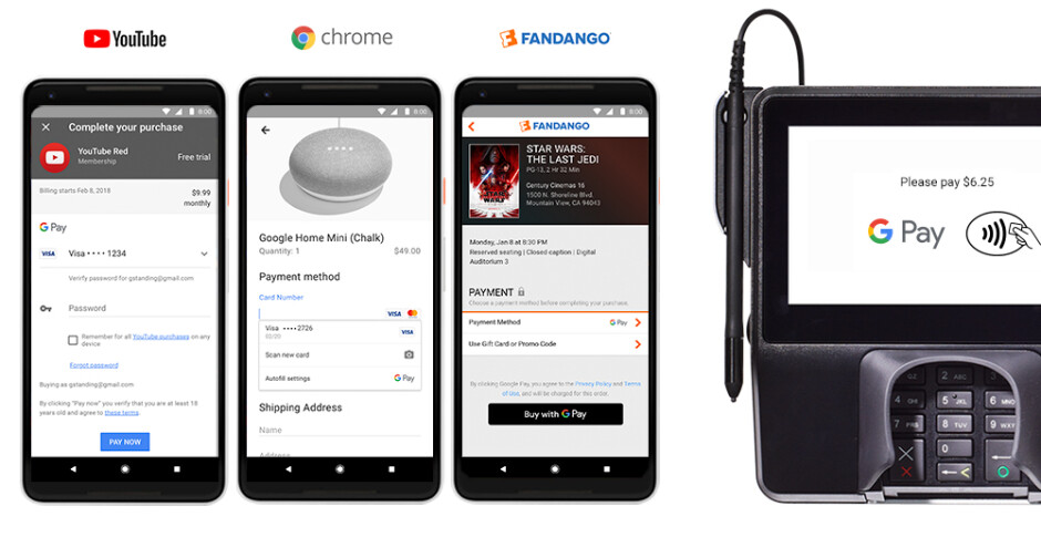 Google and other popular apps already feature the new Google Pay brand - Google Pay is official: Bundling Google's numerous payment services under one brand