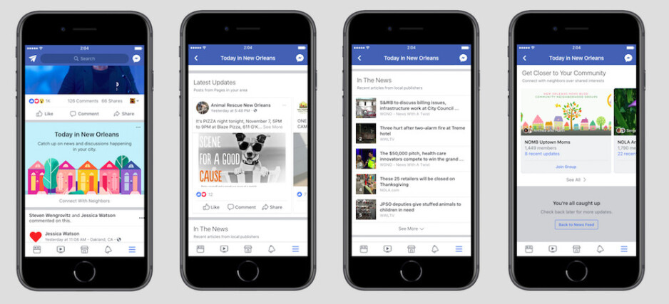 Facebook is testing a new section to emphasize local news
