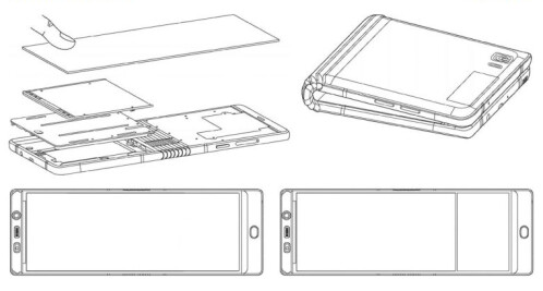 Images from Samsung's filing last year with WIPO for a patent on its foldable phone