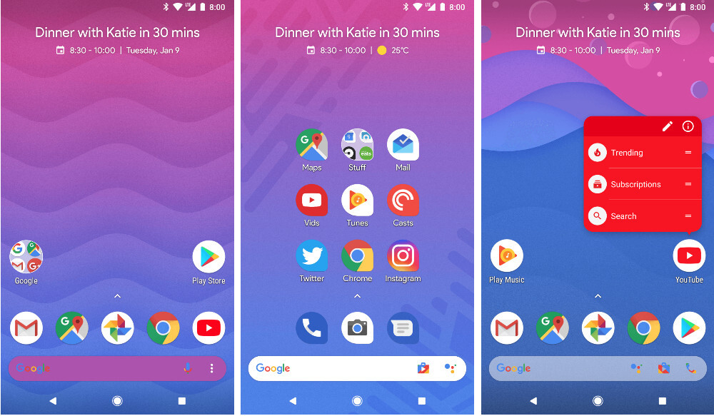 Action Launcher updated with AdaptiveZoom, more Android 8 1 Oreo