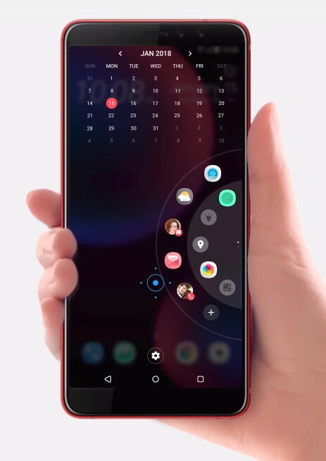 Edge Sense quick launcher - HTC's new selfie phone announced: dual front cameras, currently exclusive to China