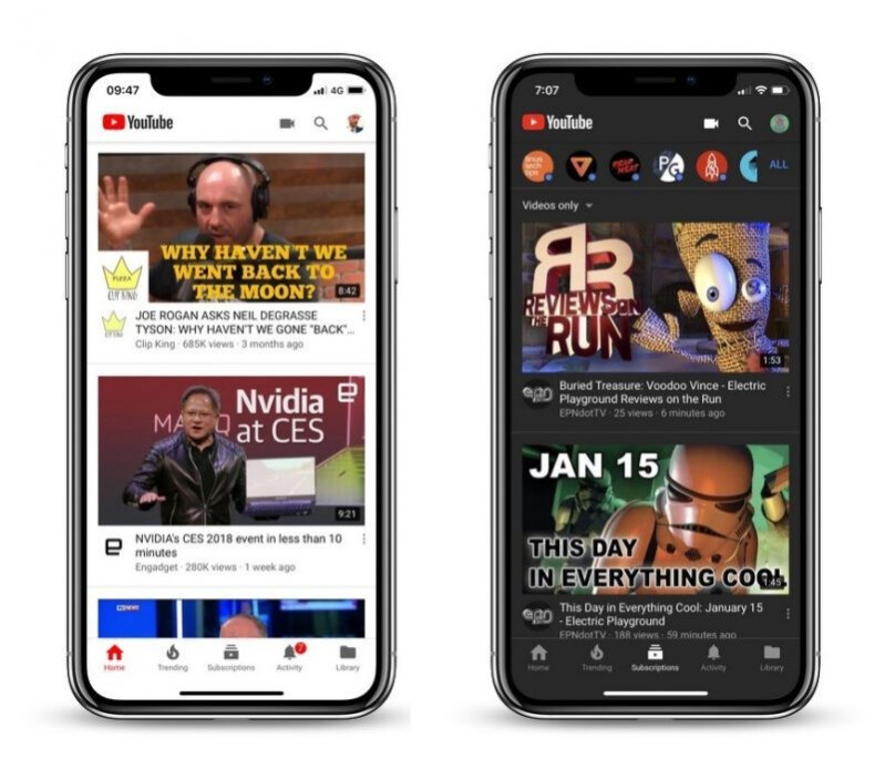 Light versus dark theme in YouTube - YouTube on iOS scores native dark mode for some users, but what about Android?
