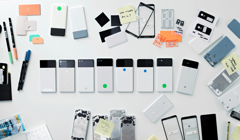 Early iterations of Google Pixel 2 - Google hardware designer reveals early Pixel 2 iterations