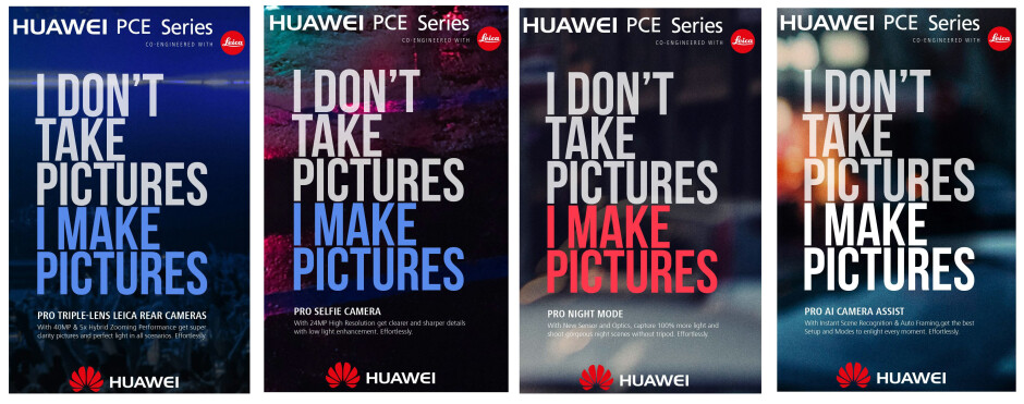 A bunch of leaked posters give us hints of what to expect - Huawei P20 (Huawei P11?) rumor review: triple cameras, Face ID, bezels begone