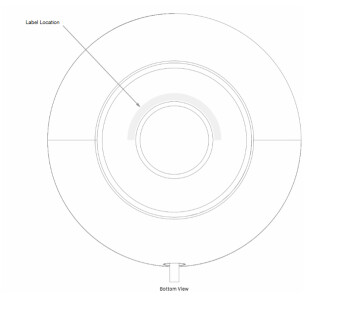 From the FCC documentation, this image reveals where the FCC label will appear on the bottom of the HomePod