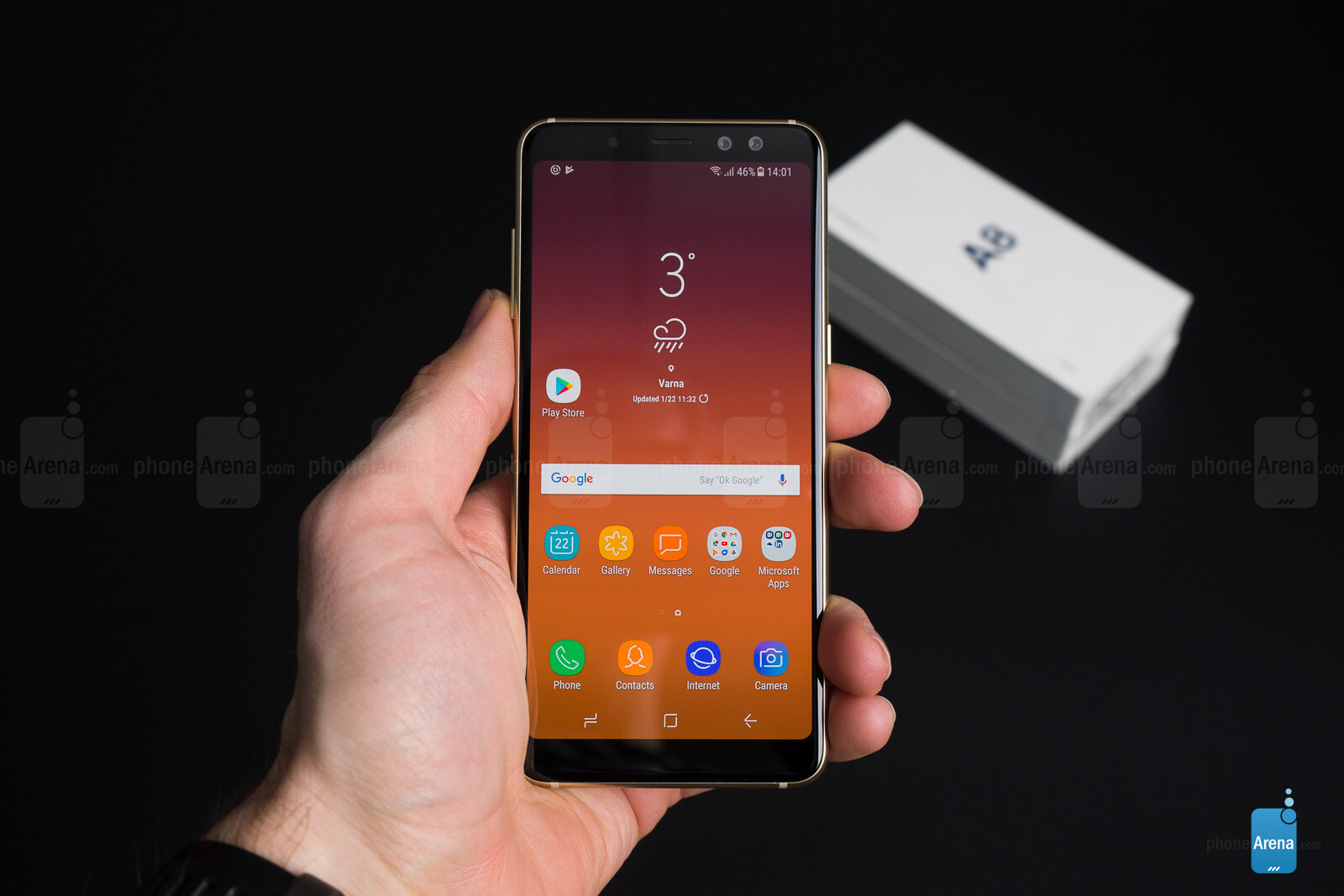 samsung galaxy a8 2018 unboxing and first look. Black Bedroom Furniture Sets. Home Design Ideas