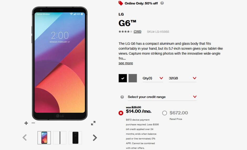 Deal: Verizon's LG G6 is now 50% off
