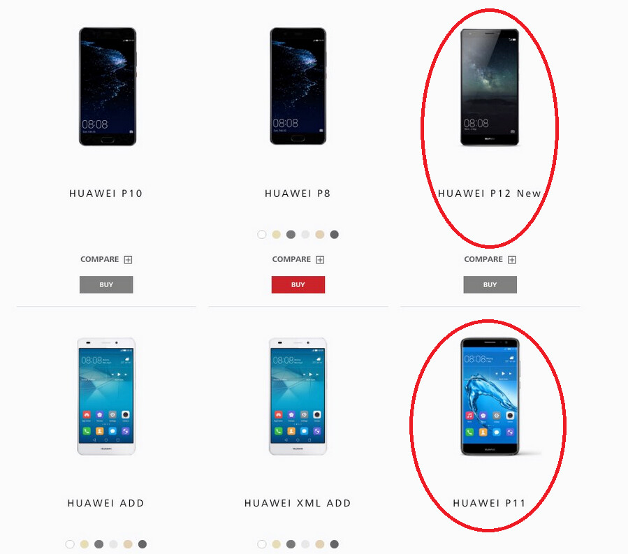 Using placeholders for this test, Huawei gives us a hint about what it will name the next two phones in its P Series - Huawei P11 name appears likely for Huawei's next P series phone, not Huawei P20