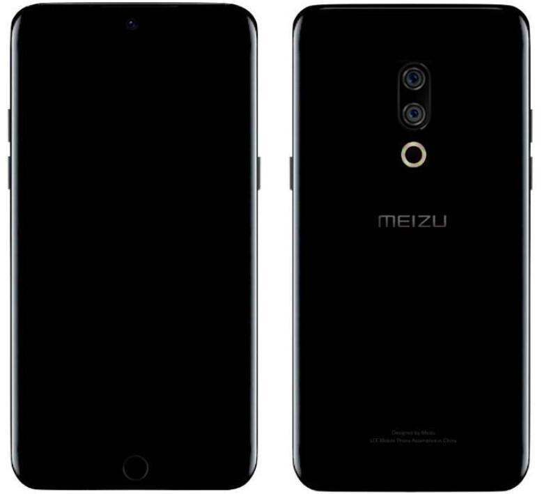 Leaked render of the Meizu 15 - Meizu 15 render appears revealing curved screen, fingerprint scanner and dual camera setup