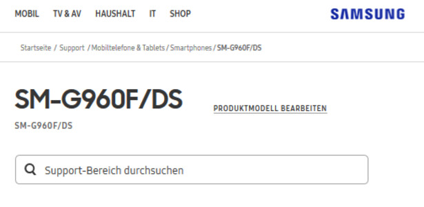 The Samsung Germany website already has a support page up for the Samsung Galaxy S9 - Samsung Germany's Galaxy S9 support page hints that Dual SIM feature is coming to Europe