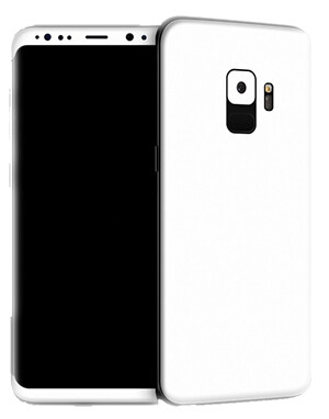 Galaxy S9 with deliberately chosen white skins to showcase the design