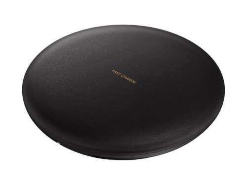 TheSamsung Wireless Charging Convertible Stand in black, and tan