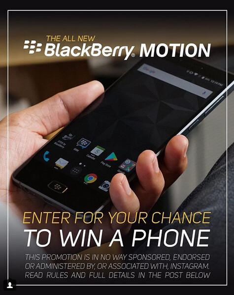 Win a free BlackBerry Motion from BlackBerry Mobile and Gentlemen's Choice - BlackBerry Mobile and Gentlemen's Choice are giving away a free BlackBerry Motion