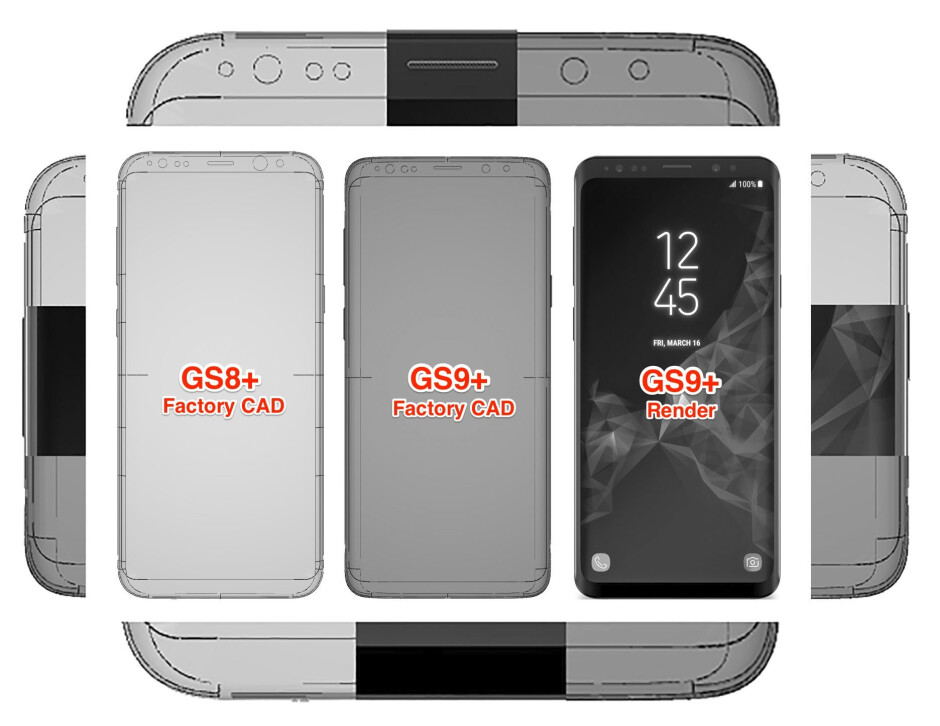 The S9 vs S8 edge curve slope might be more gradual, start and merge sooner with the thicker side bezels, for the joy of screen protector makers - Leaked Galaxy S9+ vs S8+ factory schematics solve the mystery of the thickening bezels