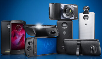 Some of Motorola's current Moto Mods