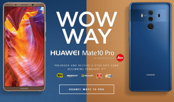 Huawei Mate 10 Pro now available to pre-order in the US, $150 gift card included