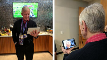 Verizon CEO Lowell McAdam and KT CEO Chang-Gyu Hwang on the first pre-commercial 5G video call