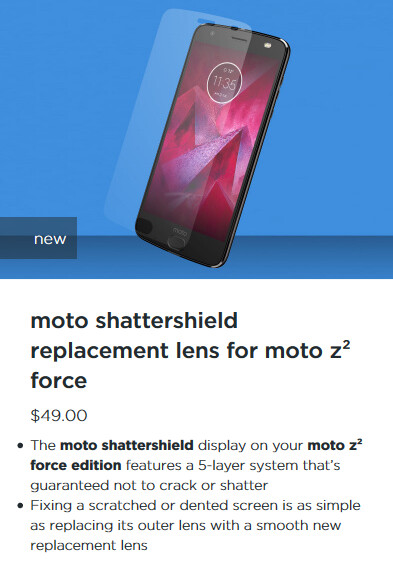 The ShatterShield screen on the Moto Z2 Force is peeling on several units