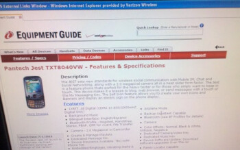 Verizon spec sheet peep show reveals what's in the pipeline