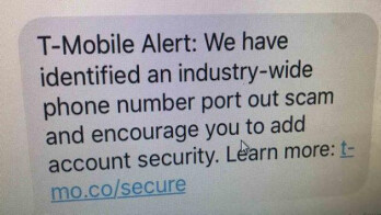 Don't be surprised if you get this warning message from T-Mo
