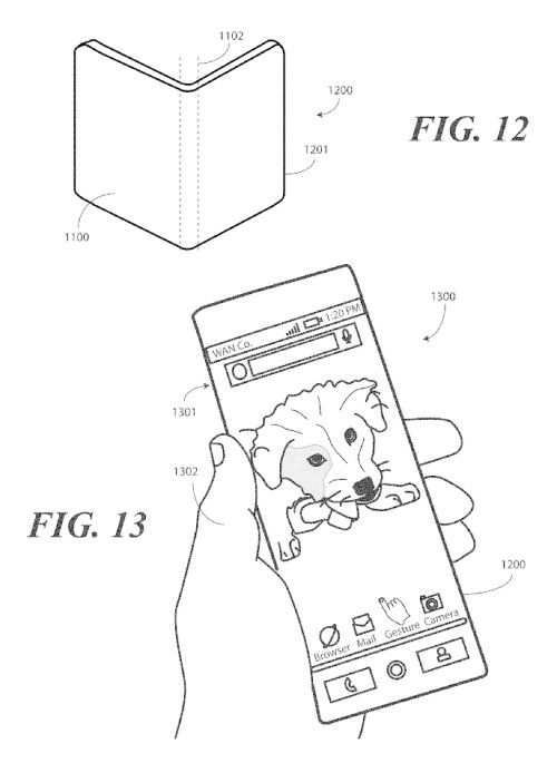 Motorola flexible, foldable, bezel-less phone patents