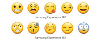 Samsung-Experience-9-0-Emojipedia-Comparison-Grimace-Weary-Savouring-Smirk-Drool
